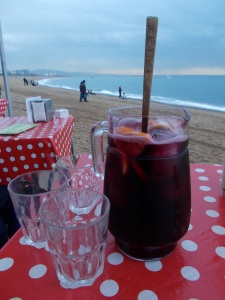 Hello happiness - Sangria can melt away all your troubles. And the background helps too!