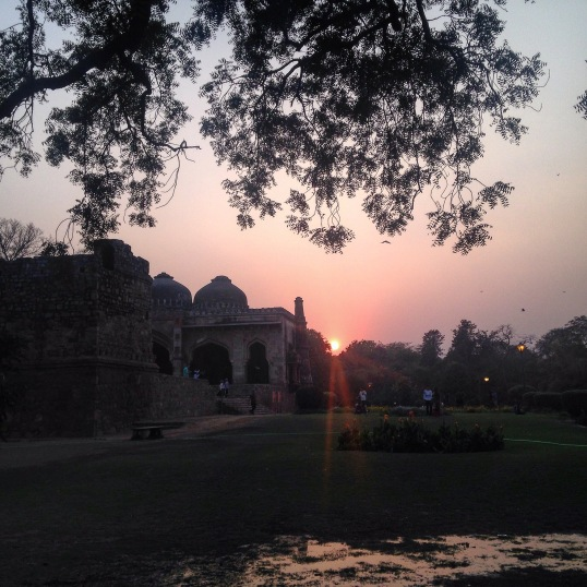 After a soul satisfying day, we saw the sun set at Lodhi Gardens