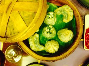 Peek-a-boo with the vegetarian dimsums